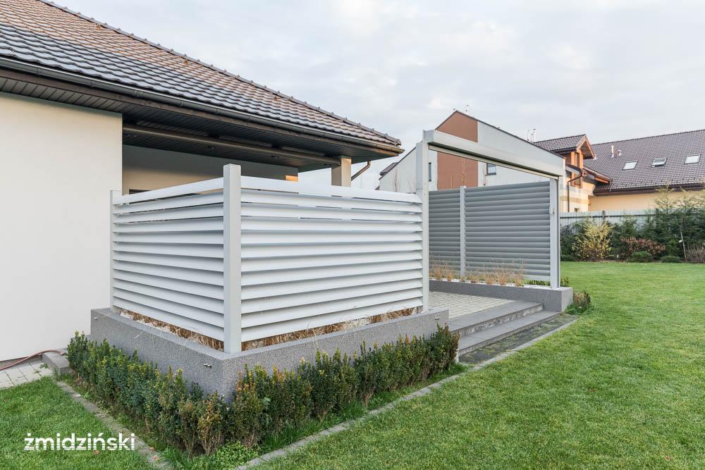 Nowoczesne ogrodzenie tarasowe